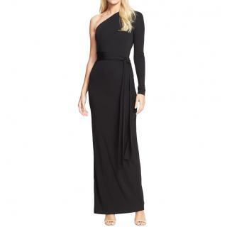 Diane von Furstenberg black Coco maxi dress
