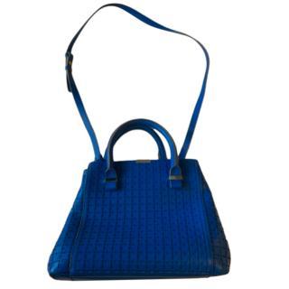 Victoria Beckham Lasercut Blue Liberty Tote