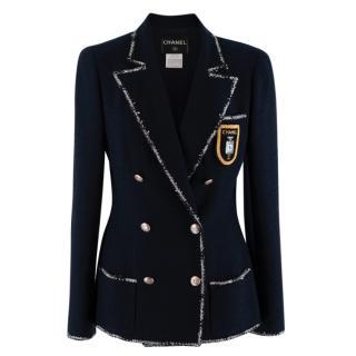 Chanel Navy Wool Blend Double Breasted The Devil Wears Prada Jacket