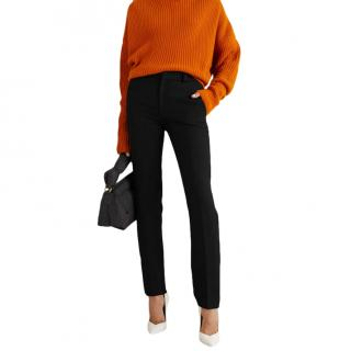 Roland Mouret Lacerta Black Straight Leg Pants