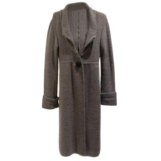 Allegra Hicks grey wool and cashmere cardigan
