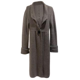 Allegra Hicks grey wool and cashmere cardigan