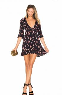 For Love & Lemons Printed Mini Dress