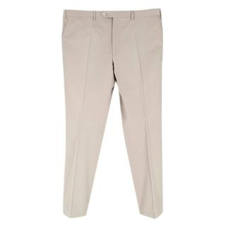 Donato Liguori Beige Cotton Tailored Chinos