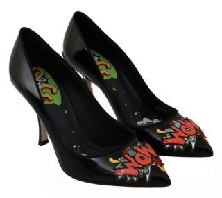 Dolce & Gabbana WOW Patch Glossy Pumps