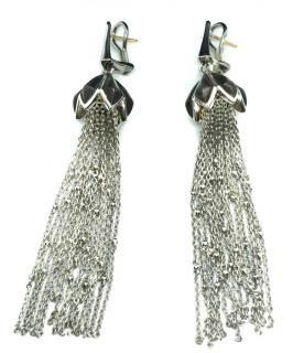 Stephen Webster silver chain cascade earrings