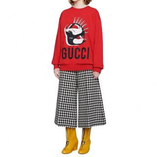 Gucci Unisex Manifesto oversized red sweatshirt