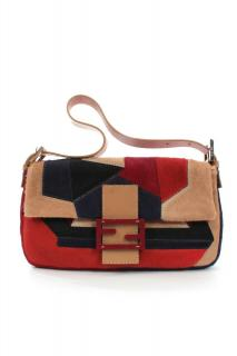 Fendi patchwork calf hair Baguette bag