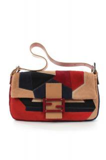 Fendi patchwork calf hair Baguette bag