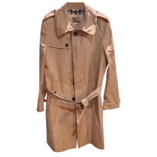 Burberry beige men's cotton trench coat