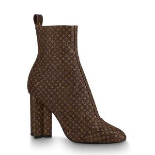 Louis Vuitton Monogram Silhouette Ankle Boots
