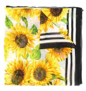 Dolce & Gabbana sunflower print scarf/sarong