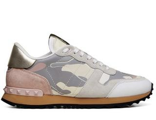 Valentino Ivory/Rose Camo Rockstud Sneakers