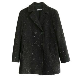Jil Sander cashmere blend short coat