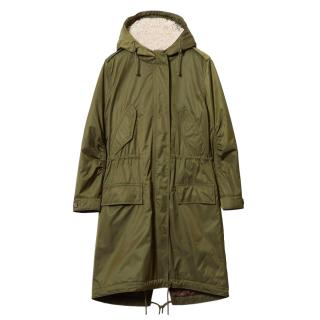 Comptoir Des Cotonniers Sherpa Lined Hooded Parka