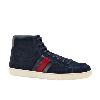 Gucci Blue Suede High Top Sneakers