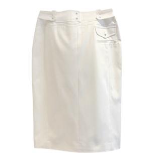 Altuzarra Ivory High Waisted Pencil Skirt