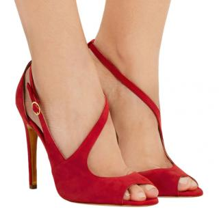 Rupert Sanderson Jewel Asymmetrical Peep Toe Sandals
