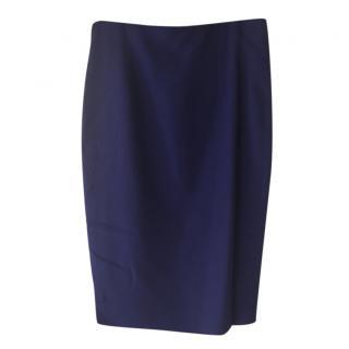 Alexander McQueen Blue Pencil Skirt