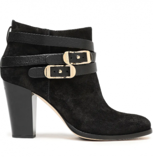 Jimmy Choo Black Suede Melba Ankle Boots