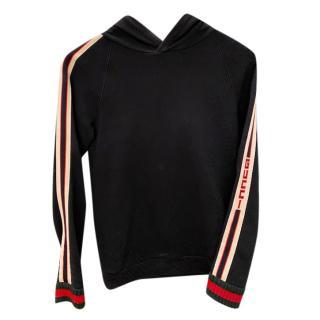 Gucci Blue Side Stripe Kids Hooded Sweater