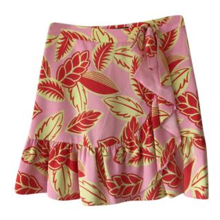 Boutique Moschino Pink Leaf Print Skirt