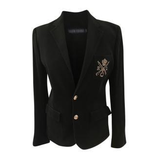 Ralph Lauren Blue Label Black Patch Applique Tailored Jacket