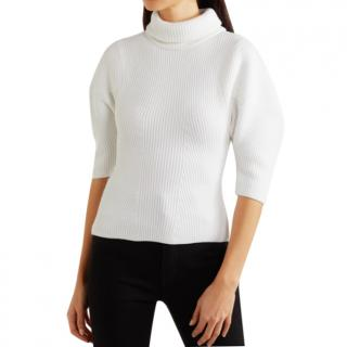 KHAITE Bret ribbed merino wool turtleneck sweater
