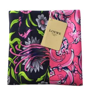 Loewe multicolour cashmere/silk blend scarf