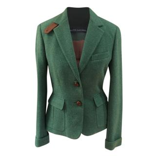 Ralph Lauren Blue Label green wool tweed blazer
