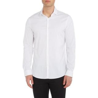 Michael Kors slim fitting white cotton/elastane shirt