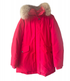 Woolrich Red Down Hooded Parka