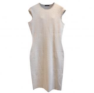 Alexander McQueen Ivory Knit Midi Dress