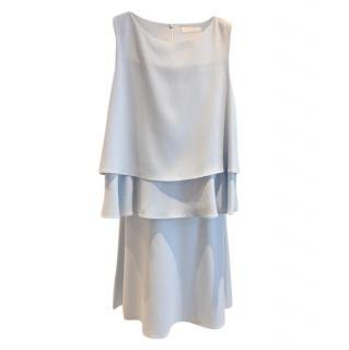 CO Pale Blue Fluid Sleeveless Top & Skirt