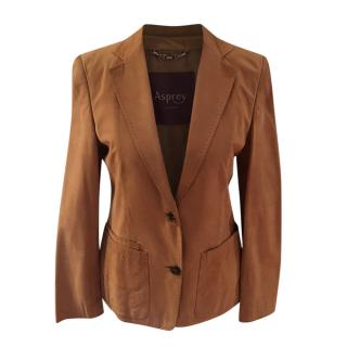 Asprey Tan Suede Tailored Jacket