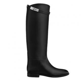 Hermes Calfskin Black Riding Boots