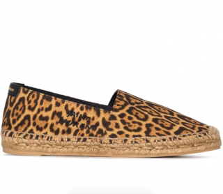 Saint Laurent Leopard-print canvas espadrilles