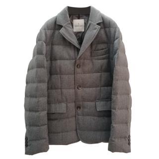 Moncler Grey Down Rodin Jacket