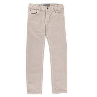 Bonpoint Beige Cotton Corduroy 5 Pocket Trousers