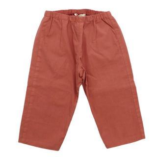 Bonpoint Coral Cotton Dandy Trousers