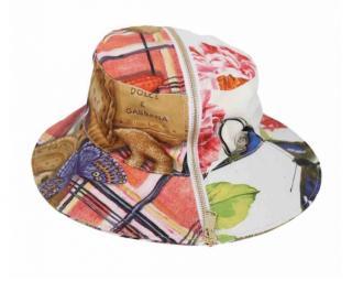 Dolce & Gabbana patchwork zip detail hat