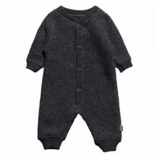 Joha Grey Merino Wool Fleece Thermal Romper Suit & Balaclava