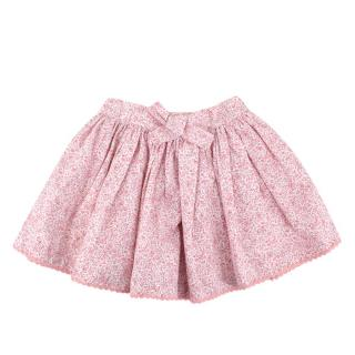 Confiture Pink Floral Cotton Ruffled Skirt