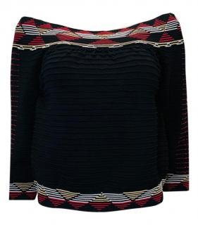 Maje Off-Shoulder Knit Top