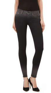 7 For All Mankind Illusion Luxe Rinsed Black Skinny Jeans