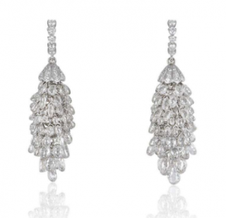 Bespoke Diamond Chandelier White Gold Earrings