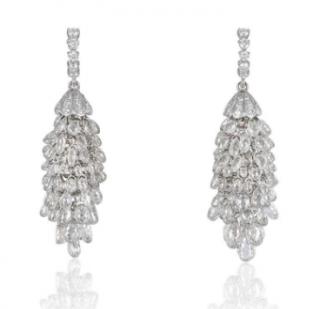 Bespoke Diamond Chandelier White Gold Earrings