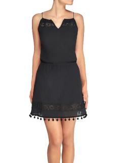 Heidi Klein Black Oslo Crochet Mini Dress