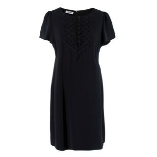 Moschino Cheap and Chic Black Silk Crepe Dress