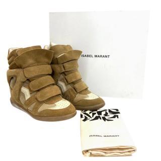 Isabel Marant Camel Bekett Sneakers
